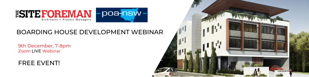 The Site Foreman and POA NSW Boarding House Webinar