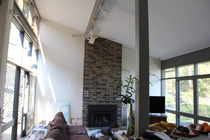 Before renovation of living room